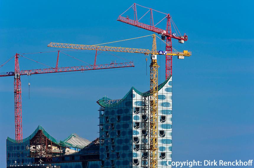 Baustelle der Elbphilharmonie, Hamburg, Deutschland