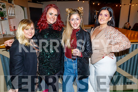 Rosie Tull, Claire Birch, Rosie McGrath and Rebecca Shortt attending the 'Paris is Burning' Drag Show in Benners Hotel on Saturday.