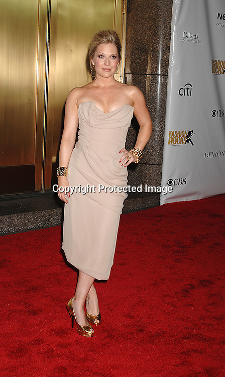 Emily Procter in Vivian Westwood dress..arriving for The Fourth Annual Fashion Rocks concert presented by Conde Nast Media Group on ..September 6, 2007 at Radio City Music Hall. ..Photo by Robin Platzer, Twin Images....212-935-0770