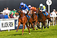 Winner of The Smith & Williamson Fillies' Novice Stakes (Class 5)) Tamreer ridden by Dane O'Neil and trained by Charles Hills  during Afternoon Racing at Salisbury Racecourse on 17th May 2018