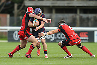 Matt Eliet of London Scottish with the ball during the Greene King IPA Championship match between London Scottish Football Club and Hartpury RFC at Richmond Athletic Ground, Richmond, United Kingdom on 28 October 2017. Photo by David Horn.