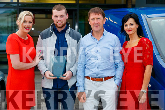 Toireasa Ferris, David Linnane (Academic award in Criminology with Security Studies), Jack O'Connor and Mary Lucey, Principal at the Kerry College of Further Education awards night on Thursday May 31st.