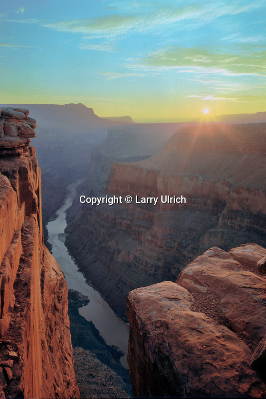 Colorado River  and Grand Canyon<br />   from Toroweap Overlook at sunrise<br /> Grand Canyon National Park<br /> Colorado Plateau,  Arizona