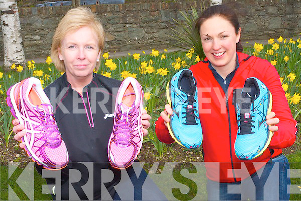 Breda Lynch and Catriona Kelly of Feet First who are preparing for the very popular Good Friday Run through the streets of Killarney.