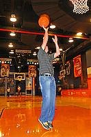 30 September, 2010, Kansas City, Kansas USA.Denny Hamlin, The College Basketball Experience..©2010, F. Peirce Williams, USA.