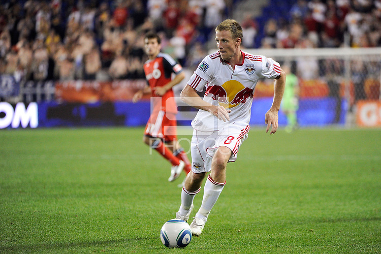 Jan Gunnar Solli (8) of the New York Red Bulls. The New York Red Bulls defeated Toronto FC 5-0 during a Major League Soccer (MLS) match at Red Bull Arena in Harrison, NJ, on July 06, 2011.