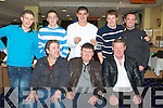 STAG AT THE DOGS: Patrick Dennehy, Niuaintaine, Killorglin enjoying a great time at his stag night at the Kingdom Greyhound Stadium on Saturday seated l-r: Mike Golden, Patrick Dennehy and James Naughton. Back l-r: Seamus Dowd, David Murphy, Sean O'Grady, Steve Ram and Jack Clifford.