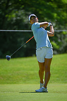 Danielle Kang (USA) watches her tee shot on 14 during round 2 of the 2018 KPMG Women's PGA Championship, Kemper Lakes Golf Club, at Kildeer, Illinois, USA. 6/29/2018.<br /> Picture: Golffile | Ken Murray<br /> <br /> All photo usage must carry mandatory copyright credit (© Golffile | Ken Murray)