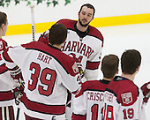 Steve Michalek (Harvard - 34) - The Harvard University Crimson defeated the Brown University Bears 4-3 to sweep their first round match up in the ECAC playoffs on Saturday, March 7, 2015, at Bright-Landry Hockey Center in Cambridge, Massachusetts.