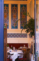 The restaurant La Belle Epoque, with decorated interior