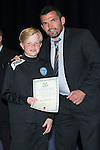 St Johnstone FC Youth Academy Presentation Night at Perth Concert Hall..21.04.14<br /> Callum Davidson presents to Harris MacIntosh<br /> Picture by Graeme Hart.<br /> Copyright Perthshire Picture Agency<br /> Tel: 01738 623350  Mobile: 07990 594431