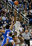 March 3, 2012:   Nevada Wolf Packs Malik Story shoots a 3-pointer against the Louisiana Tech Bulldogs during their NCAA basketball game played at Lawlor Events Center on Saturday night in Reno, Nevada.
