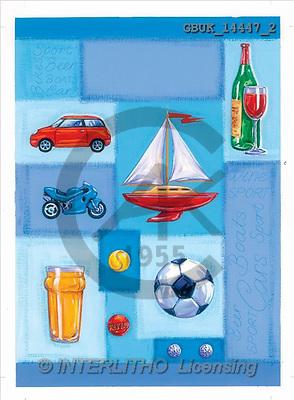 Stephen, MASCULIN, paintings, car, ship, football(GBUK14447/2,#M#)