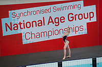 Picture by Allan McKenzie/SWpix.com - 26/11/2017 - Swimming - Swim England Synchronised Swimming National Age Group Championships 2017 - GL1 Leisure Centre, Gloucester, England - Isobel Davies.