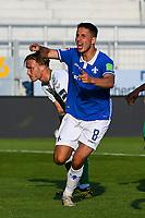 Torjubel, Goal celebration, celebrate the goal zum 1:0 durch Fabian Schnellhardt (SV Darmstadt 98)<br /> <br /> - 29.05.2020: Fussball 2. Bundesliga, Saison 19/20, Spieltag 29, SV Darmstadt 98 - SpVgg Greuther Fuerth, emonline, emspor, <br /> <br /> Foto: Florian Ulrich/Jan Huebner/Pool VIA Marc Schüler/Sportpics.de<br /> Nur für journalistische Zwecke. Only for editorial use. (DFL/DFB REGULATIONS PROHIBIT ANY USE OF PHOTOGRAPHS as IMAGE SEQUENCES and/or QUASI-VIDEO)