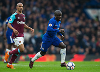 Chelsea's Ngolo Kante in action <br /> <br /> Photographer Craig Mercer/CameraSport<br /> <br /> The Premier League - Chelsea v West Ham United - Sunday 8th April 2018 - Stamford Bridge - London<br /> <br /> World Copyright &copy; 2018 CameraSport. All rights reserved. 43 Linden Ave. Countesthorpe. Leicester. England. LE8 5PG - Tel: +44 (0) 116 277 4147 - admin@camerasport.com - www.camerasport.com