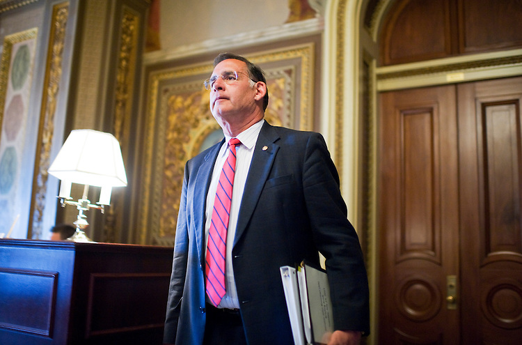 UNITED STATES - JULY 19:  Sen. John Boozman, R-Ark., leaves the senate republican policy luncheon in the Capitol.  (Photo By Tom Williams/Roll Call)