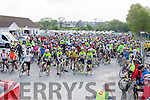 At the start of the Remembering Zoe Cycle Challenge was held last Sunday morning at Fr. Casey's GAA clubhouse Abbeyfeale