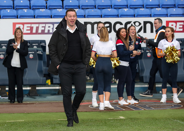 Former Bolton Wanderers' player Kevin Nolan<br /> <br /> Photographer Andrew Kearns/CameraSport<br /> <br /> The EFL Sky Bet Championship - Bolton Wanderers v Norwich City - Saturday 16th February 2019 - University of Bolton Stadium - Bolton<br /> <br /> World Copyright © 2019 CameraSport. All rights reserved. 43 Linden Ave. Countesthorpe. Leicester. England. LE8 5PG - Tel: +44 (0) 116 277 4147 - admin@camerasport.com - www.camerasport.com
