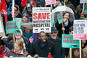 Labour MP David Lammy. Save Whittington Hospital Campaign march and rally, Islington, London.