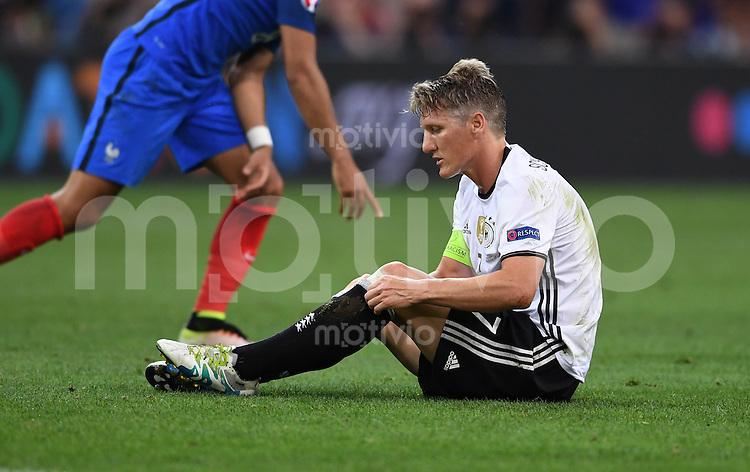 FUSSBALL EURO 2016 HALBFINALE IN MARSEILLE  Deutschland - Frankreich                 07.07.2016 Bastian Schweinsteiger  (Deutschland)