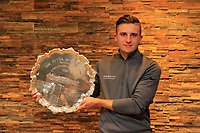 Harrison Arnold (Castle Royle Golf &amp; Country Club) poses with the trophy after the final round of the Peter McEvoy Trophy played at Copt Heath Golf Club, Solihull, England. 12/04/2018.<br /> Picture: Golffile | Phil Inglis<br /> <br /> <br /> All photo usage must carry mandatory copyright credit (&copy; Golffile | Phil Inglis)