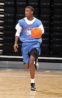 C/F L.A. Pomlee (Davenport, IA / Davenport Central) moves the ball during the NBA Top 100 Camp held Friday June 22, 2007 at the John Paul Jones arena in Charlottesville, Va. (Photo/Andrew Shurtleff)
