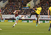 19/04/2016 Sky Bet League Championship  Burnley v Middlesbrough<br /> Joey Barton challenges with Albert Adomah