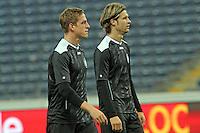 Bastian Oczipka und Martin Lanig (Eintracht) - Eintracht Europa League Training