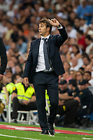 Julen Lpetegui of Real Madrid during the match between Real Madrid v Getafe CF of LaLiga, 2018-2019 season, date 1. Santiago Bernabeu Stadium. Madrid, Spain - 19 August 2018. Mandatory credit: Ana Marcos / PRESSINPHOTO