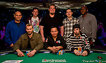 The final table players.