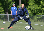 Kasey Keller watches the ball on Saturday, May 20th, 2006 at SAS Soccer Park in Cary, North Carolina. The United States Men's National Soccer Team held a training session as part of their preparations for the upcoming 2006 FIFA World Cup Finals being held in Germany.