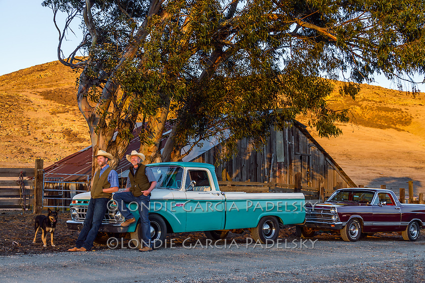 Father and son, Jason and Ed Haase, and their classic automobiles, the 1965 Ford f100 and '67 Ranchero.