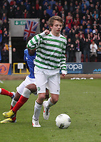 Aidan Nesbitt shields the ball in the Celtic v Rangers City of Glasgow Cup Final match played at Firhill Stadium, Glasgow on 29.4.13,  organised by the Glasgow Football Association and sponsored by City Refrigeration Holdings Ltd.
