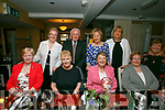 Catherine Nolan, Fenit celebrating her Big 0 birthday with her friends at the Brogue in on Saturday. Pictured front l-r Ann Harris, Finola McSweeney, Catherine Nolan, Eileen King, Ann O'Connor, Back Christine O'Connor, John O'Connor, Peggy King and Patricia O'Mahony
