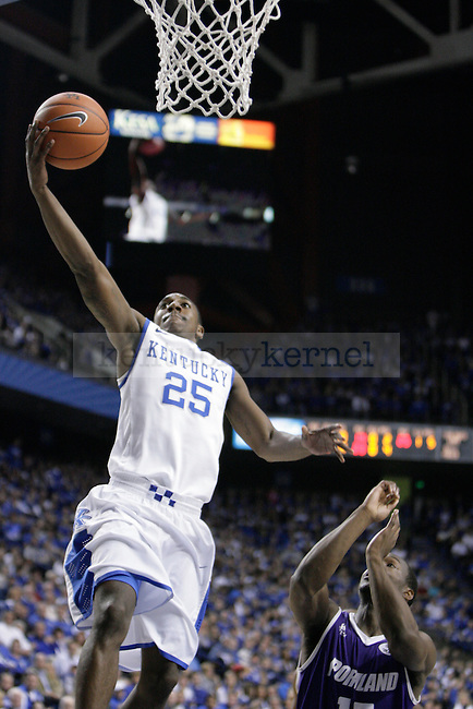 Marquis Teague lays the ball up against Portland at Rupp Arena on Saturday, Nov. 26, 2011. Photo by Scott Hannigan | Staff