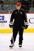 Seth Appert (RPI Head Coach) takes part in the Engineers' morning skate at the Xcel Energy Center in St. Paul, Minnesota, on Friday, October 12, 2007, during the Ice Breaker Invitational.