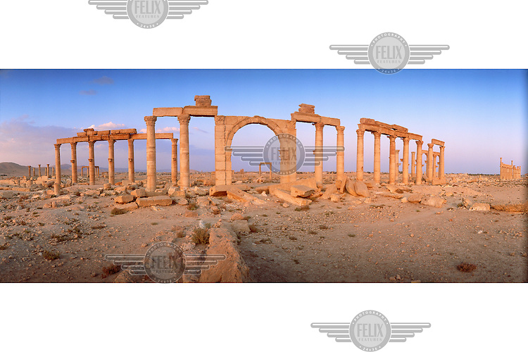 The Roman-era ruins of Palmyra, in the Syrian desert.