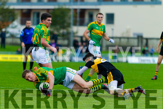 Jordan Kiely  Dr Crokes in action against Denis Daly South Kerry in the Senior County Football Final in Austin Stack Park on Sunday