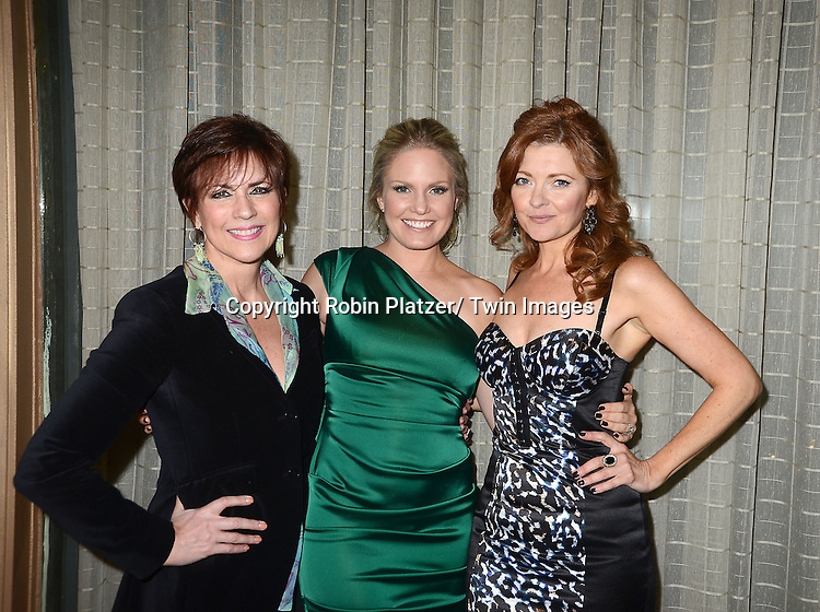 Colleen Zenk, Terri Conn and Anne Sayre attend the Marcia Tovsky Soap Stars Party on May 9, 2013 at NOIR, NYC  in New York City.