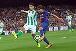 League Santander 2017/2018. Game: 01.<br /> FC Barcelona vs Real Betis: 2-0.<br /> Guardado vs Sergi Roberto.