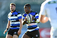 Levi Davis of Bath United in possession. Aviva A-League match, between Bath United and Saracens Storm on September 1, 2017 at the Recreation Ground in Bath, England. Photo by: Patrick Khachfe / Onside Images