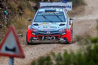 Kevin Abbring/Sebastian Marshall (Hyundai i20 WRC) during the World Rally Car RACC Catalunya Costa Dourada 2016 / Rally Spain, in Catalunya, Spain. October 15, 2016. (ALTERPHOTOS/Rodrigo Jimenez) NORTEPHOTO.COM