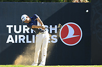 Jeunghun Wang (KOR) tees off the 8th tee during Saturday's Round 3 of the 2018 Turkish Airlines Open hosted by Regnum Carya Golf &amp; Spa Resort, Antalya, Turkey. 3rd November 2018.<br /> Picture: Eoin Clarke | Golffile<br /> <br /> <br /> All photos usage must carry mandatory copyright credit (&copy; Golffile | Eoin Clarke)