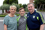 Siobhan and Micheal Keane, Killorglin and Sean macMonagle, Killarney.<br /> Kerry win the 2016 All-Ireland Minor Football Championship.<br /> Photo Don MacMonagle