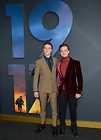 "LOS ANGELES, USA. December 19, 2019: George MacKay & Dean-Charles Chapman at the premiere of ""1917"" at the TCL Chinese Theatre.<br /> Picture: Paul Smith/Featureflash"