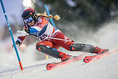 8th February 2019, Are, Sweden; Alpine skiing: Combination, ladies: Aleksandra Prokopyeva from Russia on the slalom course.