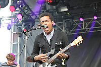 Benjamin Booker performs on stage during the Governors Ball Music Festival on Randall's Island Park in New York, Friday June 5, 2015. AFP PHOTO/TREVOR COLLENS