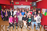 Mike Healy, Rathanane, Kilcummin, seated third from left, pictured with family and friends as he celebrated his 50th birthday in the Village Inn, Kilcummin on Friday night..