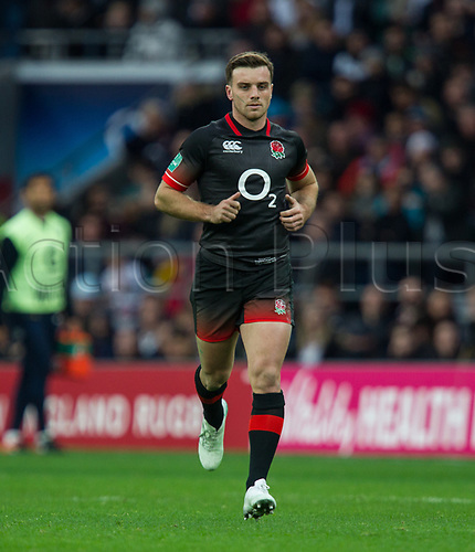 11th November 2017, Twickenham Stadium, London, England; Autumn International Series, England versus Argentina;  George Ford in action for England